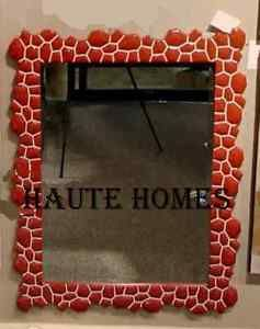 a new stunning red modern asian tile chic bevel wall vanity mirror