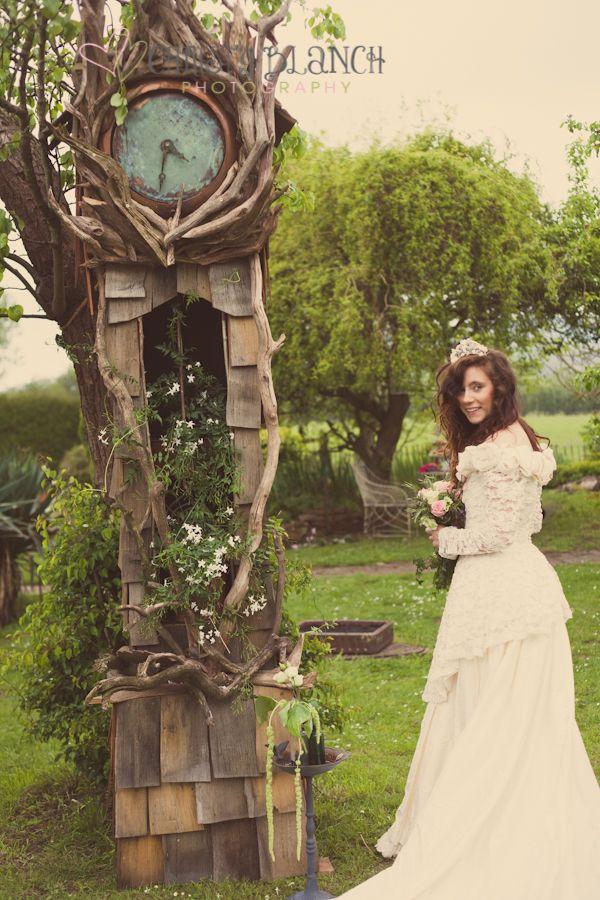 Beautiful gorgeous clock, alice in wonderland feel! A Styled Vintage Shabby Chic Wedding Yurt Shoot