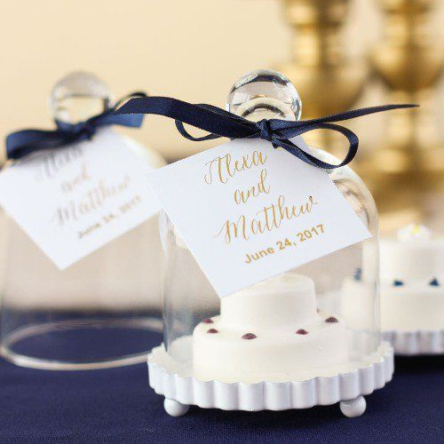 Miniature Glass Bell Jar With White Fluted Base Fabulous Events