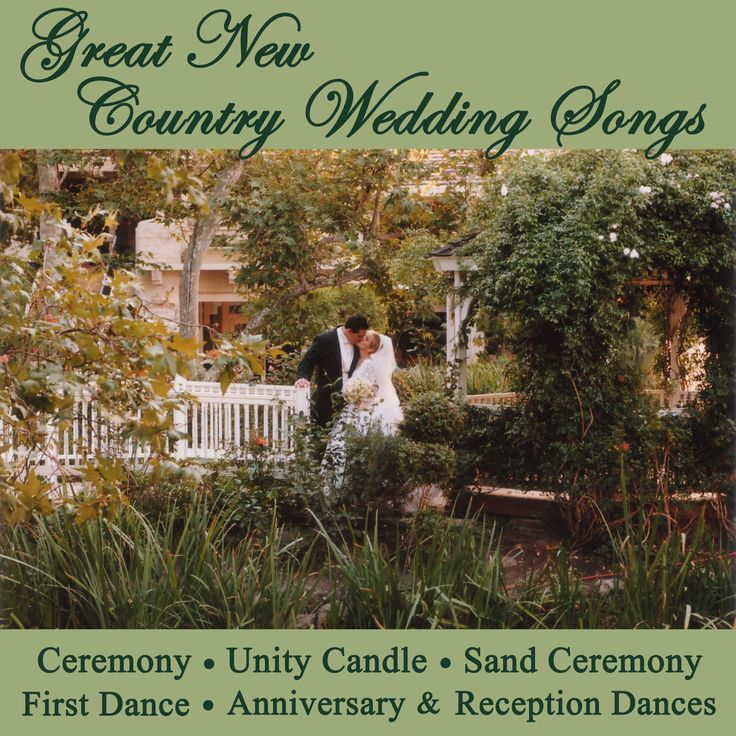 Great New Country Wedding Songs - Ceremony, Unity Candle, Sand Ceremony, First Dance, Anniversary & Reception Dances -- album available on iTunes for $9.99!  http://itunes.apple.com/us/album/great-new-country-wedding/id593189969