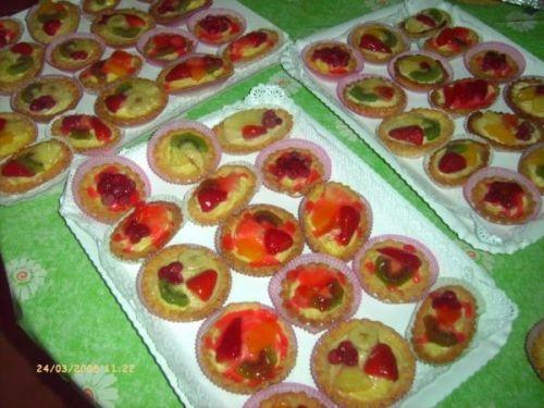 Crostatine di frutta e crema - FROLLA FATTA
