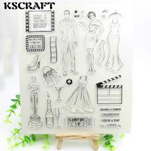 1 Sheet You are a star Transparent Clear Silicone Stamps for DIY Scrapbooking/Card Making/Kids Fun Decoration Supplies Flower(China (Mainland))