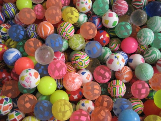 I owned an insane amount of bouncy balls.