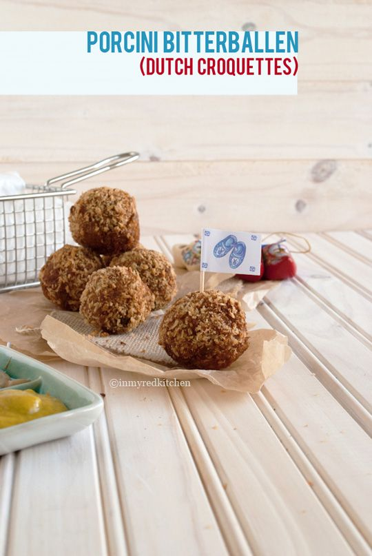 Porcini bitterballen - typical Dutch croquettes | in my Red Kitchen