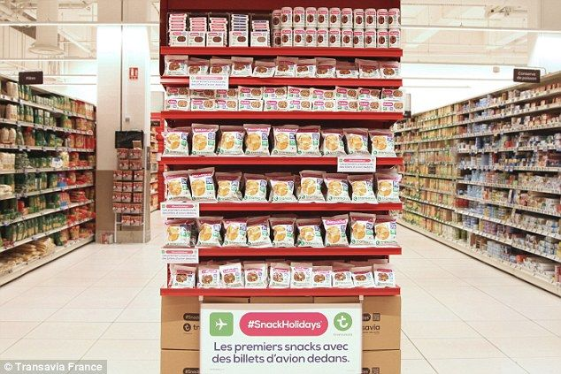 The snacks are being sold at participating Carrefour City shops, in vending machines and at a cinema