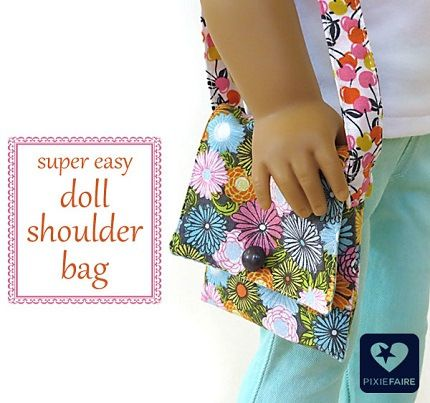 Tutorial: Simple shoulder bag for an American Girl doll