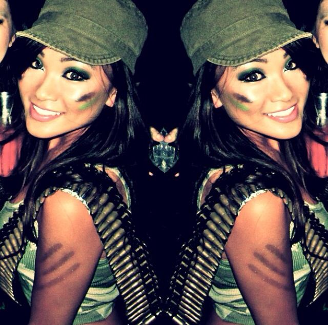 Me for Halloween 2014. Army girl. Soldier. Camo