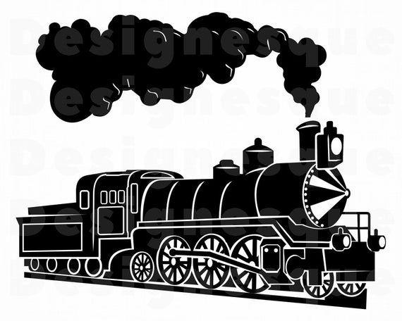 Steam Train 5 Svg Train Svg Steam Engine Svg Locomotive Etsy In 2021 Train Clipart Train Silhouette Train Drawing