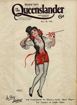 Poster Cover from The Queenslander 1936 - Show Girl