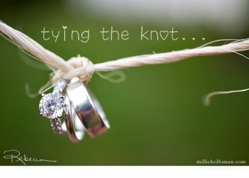 """Love this! """"Tying the knot' pic."""