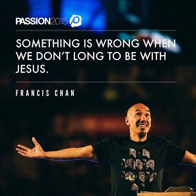 Francis Chan just brought a powerful and challenging word in session 5 of #Passion2015. He has overcome. We sing hallelujah.