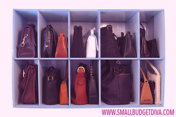 organizzare borse armadio - Cerca con Google: