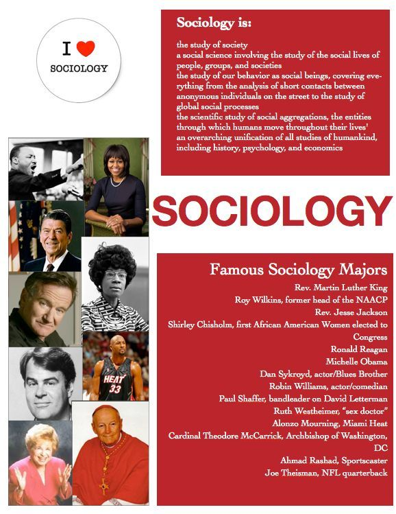 Sociology is... --the study of society --a social science involving the study of the social lives of people, groups, and societies. --the study of our behavior as social beings, covering everything from the analysis of short contacts between anonymous individuals on the street to the study of global social processes. --the scientific study of social aggregations, the entities through which humans. [Click on this image to find a blog post that contemplates what one can do with a sociology…