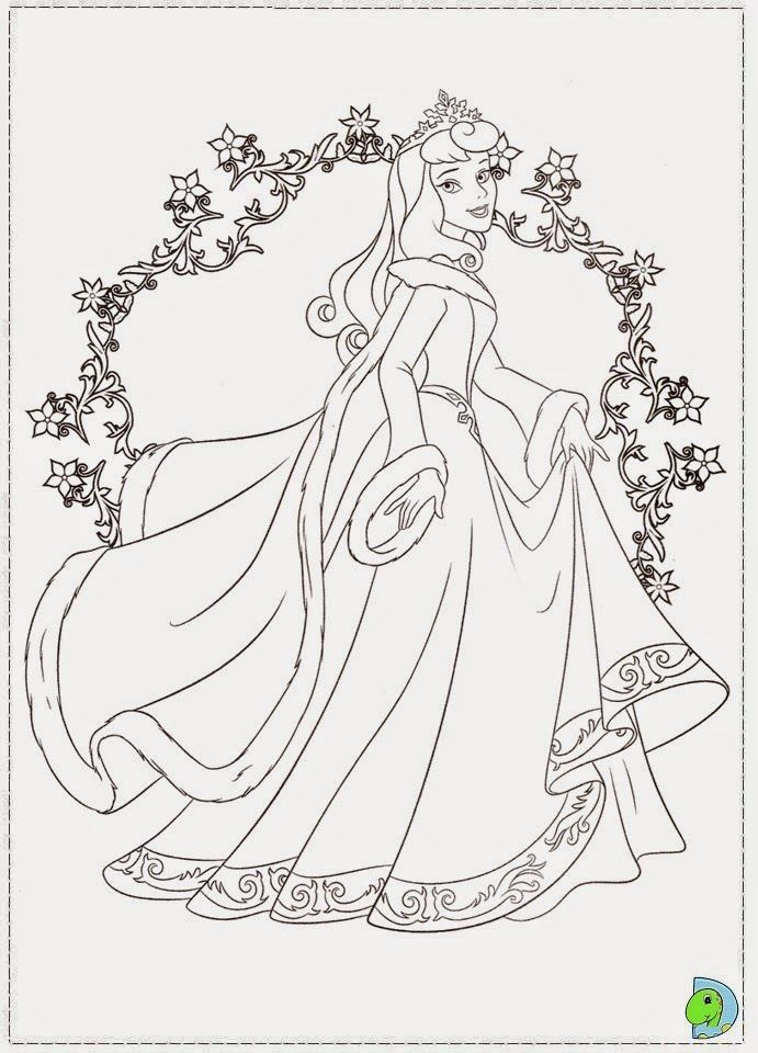 Desenhos De A Bela Adormecida Princesa Aurora Para Colorir