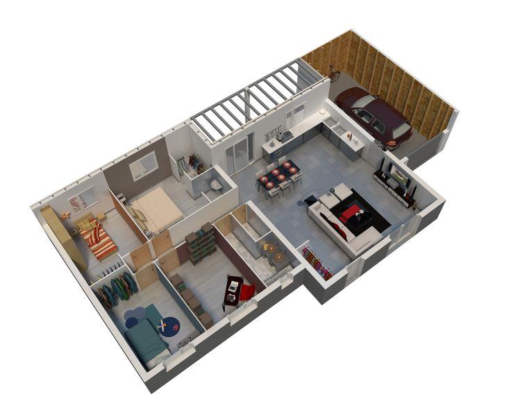 Les 25 meilleures id es de la cat gorie villa minecraft for Plan maison minimaliste