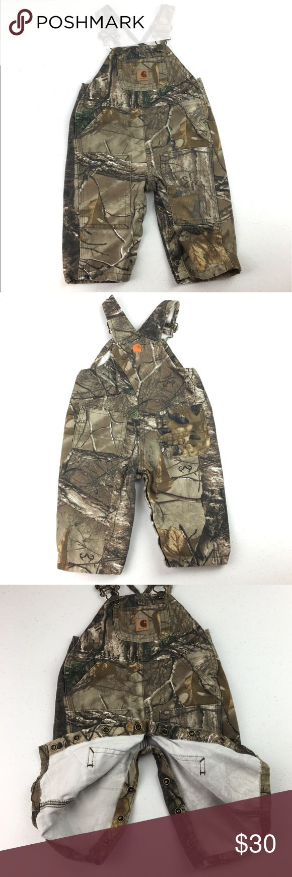 Carhartt Real Tree Camo Bib Overalls 3 Month 3 Month Real Tree camouflage Carhartt overalls. Adjustable straps. 100% cotton. Great pre-owned condition. Carhartt Bottoms Overalls