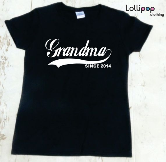 Grandma Since . Any year. Women Tshirt Gift by Lollipopclothing