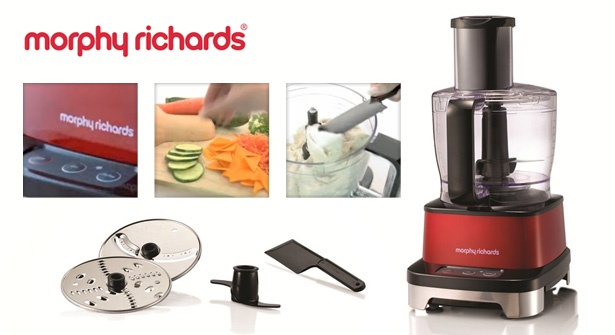 Chop, slice & shred ingredients at the touch of a button with the Morphy Richards Induction Food Processor. Powerful 800W induction motor makes short work of kitchen tasks, from crunchy coleslaw to light cake batter – save 48% on this handy culinary gadget.
