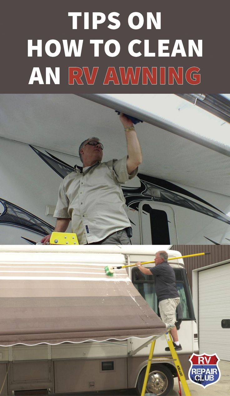 There are a few different ways to clean an RV awning ...