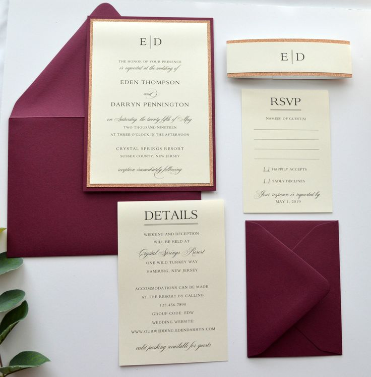 white and gold wedding invitations%0A Burgundy Wedding Invitations  Rose Gold Wedding Invitations  Wedding  Invitations  Stacked Wedding  Classic