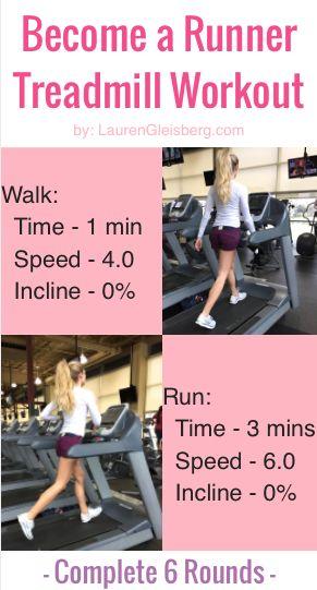Become a Runner Treadmill Workout - great workout for a beginner by LaurenGleisberg.com