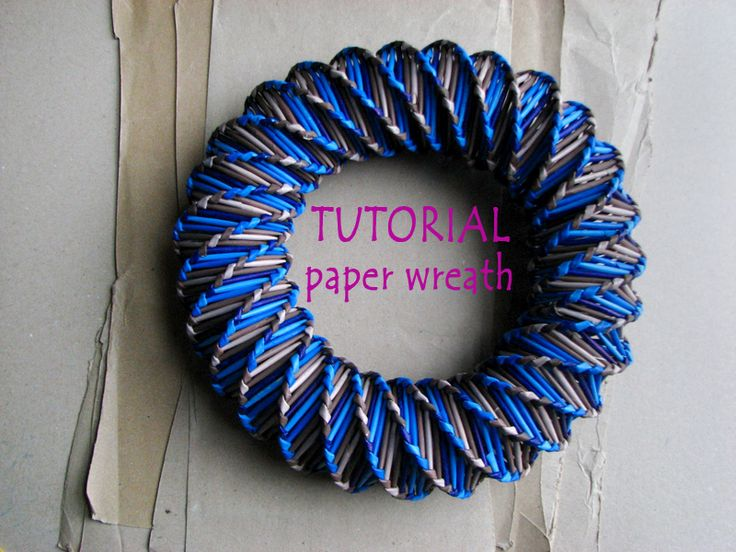 TUTORIAL - how to make paper wreath * blureco https://www.facebook.com/media/set/?set=a.635890633189786.1073741835.170405569738297&type=1