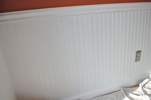 How to Install Beadboard Wainscoting - One Project Closer for the 1/2 bath