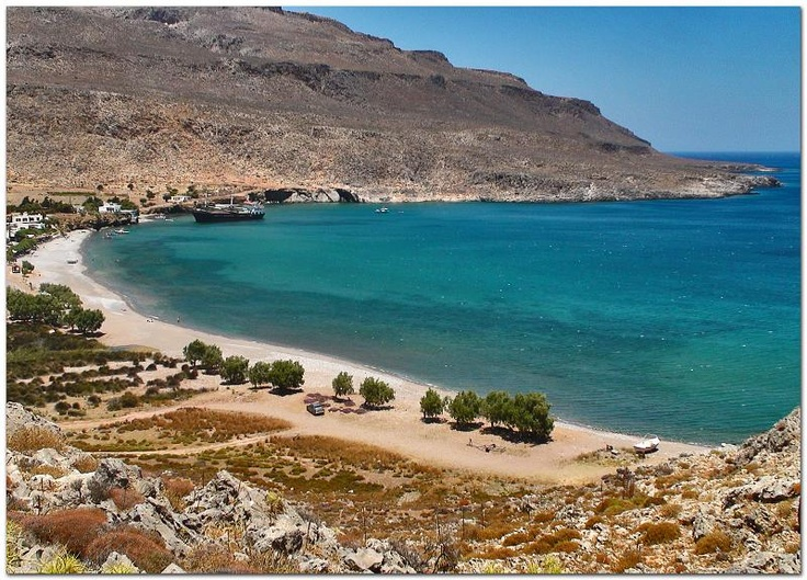 "Your Daily Moment of ""Go Slowly""  East Crete ... isolated Kato Zakros!  www.cretetravel.com  #East #Crete #isolated #Kato #Zakros #Travel #Holidays #tranquility #awesome #Sea #Sun #beach #minoan #palace"