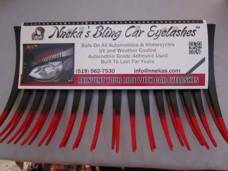 Ravishing Red Nneka's Bling Car Eyelashes - What an eyecatching phenomenom! Sale - $29.99 http://nnekas.com/product/nnekasblingcarlashes/REDTIPCAREYELASH.html  #careyelashes