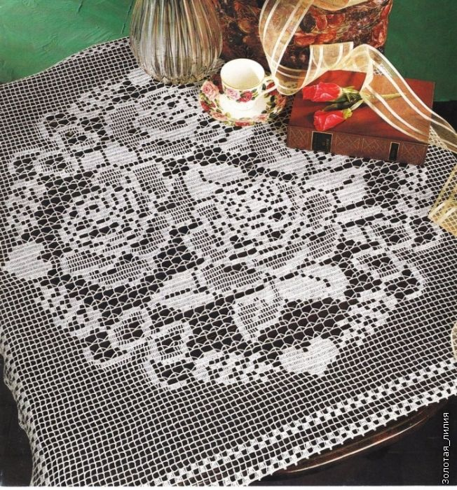 261 best filet crochet images on pinterest crochet doilies crochet rose motif square doily lcf mrs with diagram ccuart Images