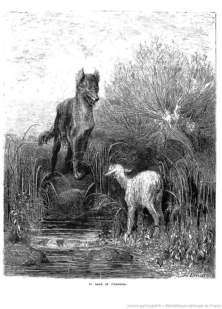 Gustave Doré - illustrations des Fables de la Fontaine - Le loup et l'agneau