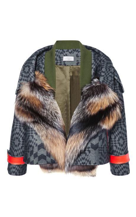 Falcon Jacket With Fox by Preen for Preorder on Moda Operandi