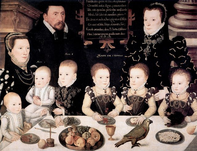 William Brooke, 10th Lord Cobham and his family, Unknown Artist, 1567