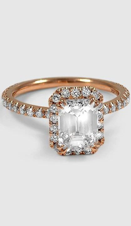 Love this romantic ring in rose gold.