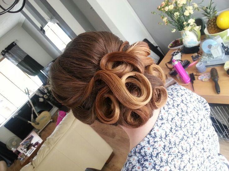 Prom hair- swirl updo