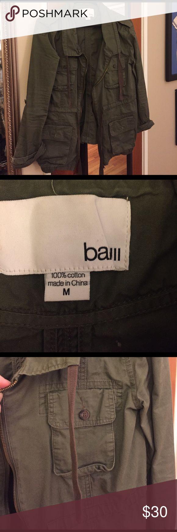 Green military jacket Great jacket! Super cute. In good condition Bar III Jackets & Coats Utility Jackets