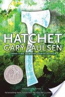 Hatchet, by Gary Paulsen --A gripping tale of survival in the Canadian wilderness.  Brian is on his way to visit his father, when the pilot suddenly dies--the plane crashes.  Brian must learn how to survive using only his wits and a hatchet.  A wonderful story to use for character traits, conflict, and cause and effect.