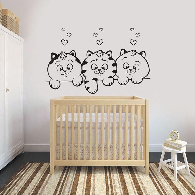 Αυτοκόλλητο τοίχου με 3 υπέροχες γατούλες για να διακοσμήσετε χαριτωμένα το παιδικό δωμάτιο.  Δείτε τη συλλογή μας με παιδικά αυτοκόλλητα τοίχου --> https://www.autokolitakia.gr/αυτοκολλητα-τοιχου-παιδικα