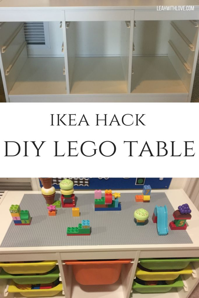 DIY Lego Table Ikea hack. Easy to make, even with two littles helping and under $100!