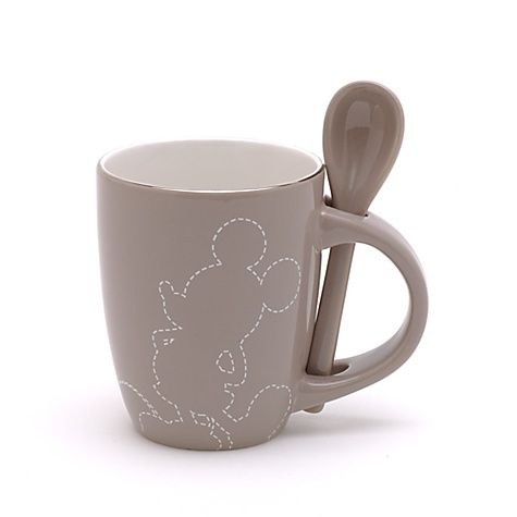 Mickey Mouse Silhouette Mug And Spoon