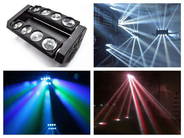 1pcs/lot, White / RGBW 4in1 Cree 8x10W LED Spider Light moving head spider beam Light disco ktv dj club show bar stage system