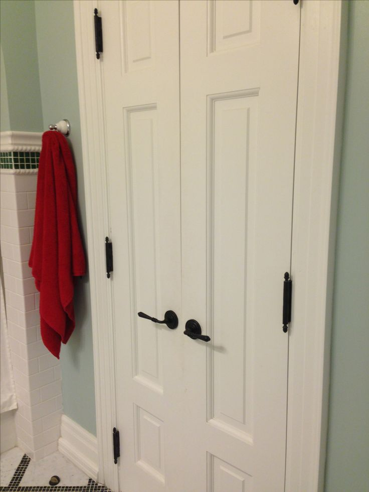 Best 20 bathroom doors ideas on pinterest sliding for Small double french doors
