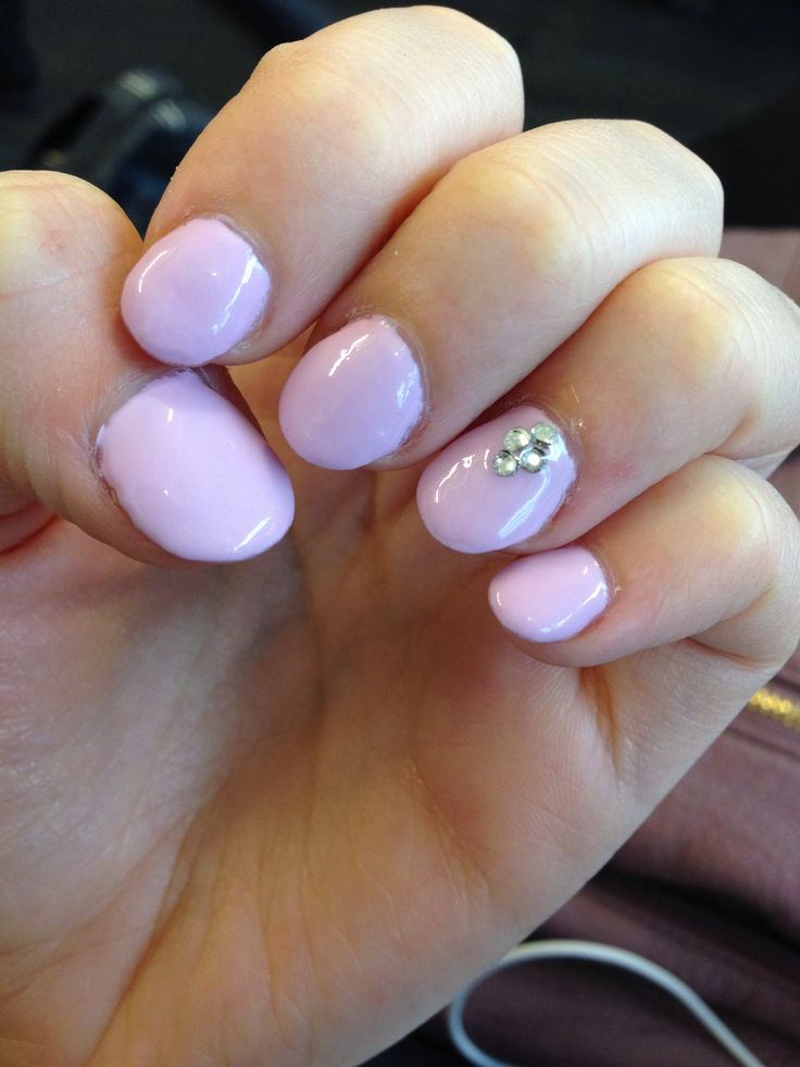 Shellac Acrylic Nails: Round Acrylic Nails With Cake Pop Shellac