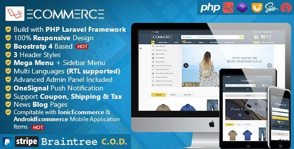 Laravel Ecommerce - Universal Ecommerce/Store Full Website