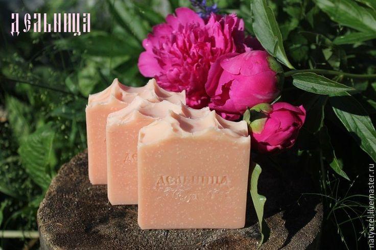 """Купить Натуральное мыло """"Букет пионов - мыло, натуральное мыло, мыло с нуля, пион"""