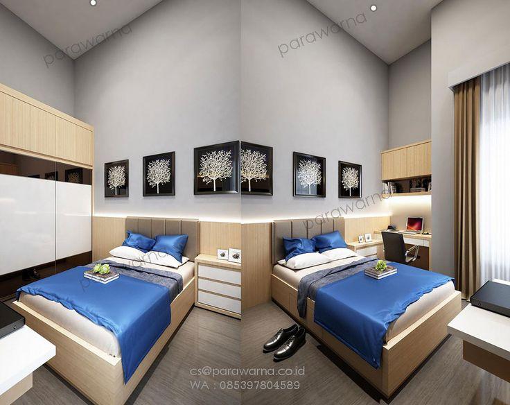 Desain minimalis kamar tidur by:Ardi www.parawarna.co.id