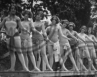 22 best vintage usa postcards images on pinterest flapper gym class instant digital vintage photo download 1920s women group scrapbooking fandeluxe Image collections