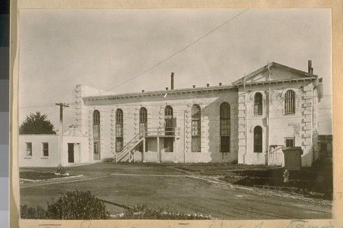 The Old Industrial School for Boys, now the Womens' Branch, County Jail. On Old San Jose Road near Ocean Ave. Built about 1855. 1925