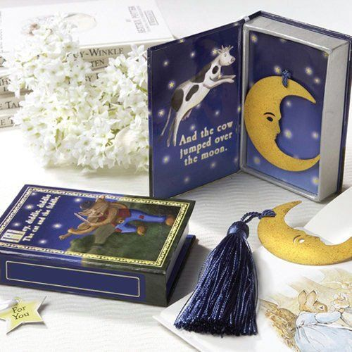 """Over the Moon"" Bookmark in Nursery Rhyme Keepsake Box by Beau-coup"
