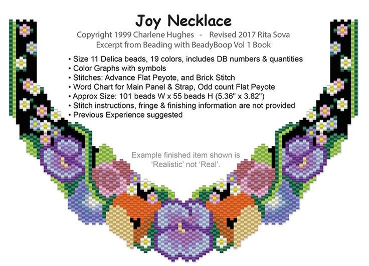 Joy Necklace | Bead-Patterns.com